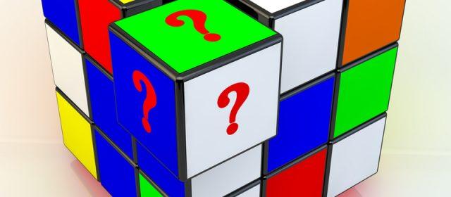 Bliv skarp med en rubiks cube